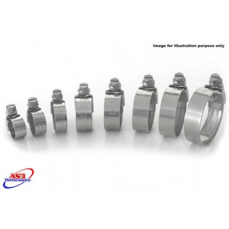 KAWASAKI ER6 F/N 2006-2015 KIT COLLIERS DE RADIATEUR INOX AS3 Performance 612068515473 As3 Performance Colliers